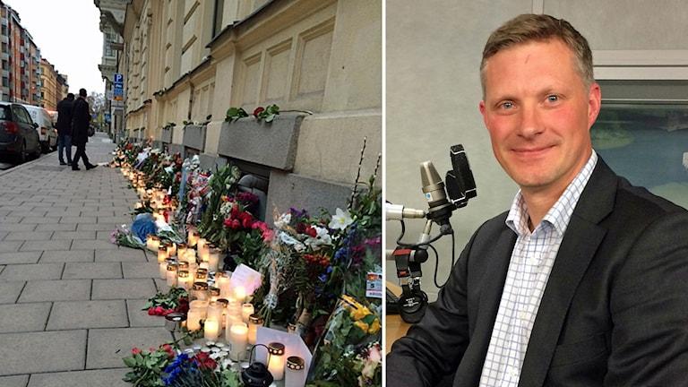 Docent Robert Egnell vid Försvarshögskolan. Foto: Simon Garshasebi och Mårten Randberg/Sveriges Radio.