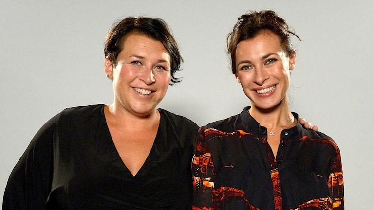 Hannah Widell och Amanda Schulman. Foto: Janerik Henriksson/TT