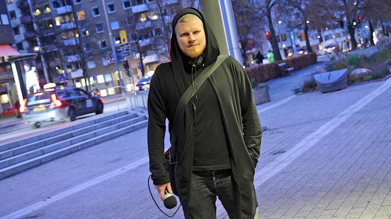 Tom Hansen i P5 STHLM. Foto: Helen Ling /Sveriges Radio.