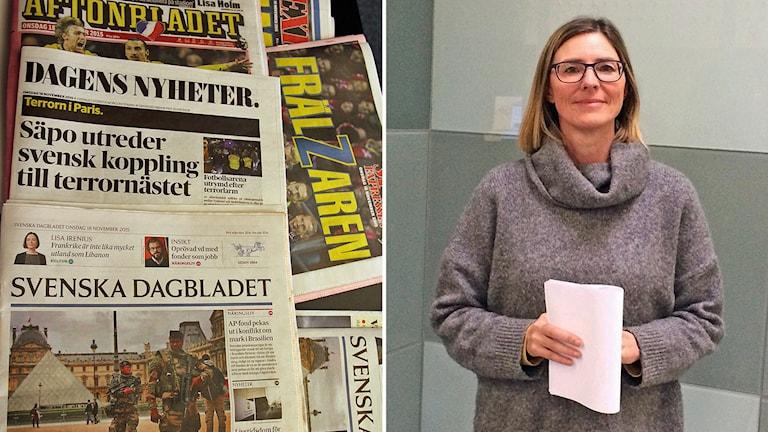 Kristina Riegert, professor i media- och kommunikationsvetenskap. Foto: Sveriges Radio.