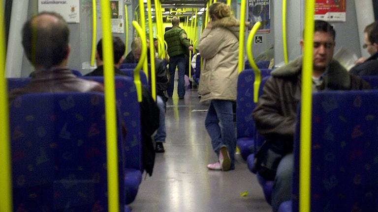 Stockholms tunnelbana. Foto Maja Jakobsson /TT.