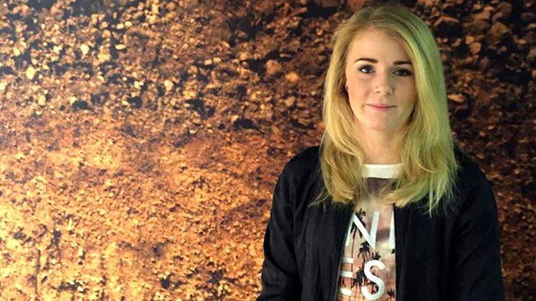 Resebloggaren Emelie Persson. Foto: Eva Ericsson/Sveriges radio.