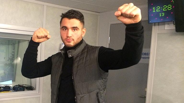 Boxaren Robin Safar. Foto: Farzad Nouri/Sveriges Radio