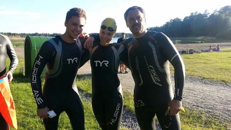 Andreas, Emma och Peter Rotstam. Foto: Terese Rotstam.