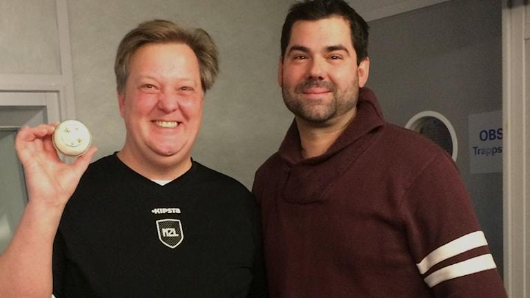 Marcus Bringzen och Serge Fredrick Conein. Foto: Sveriges Radio