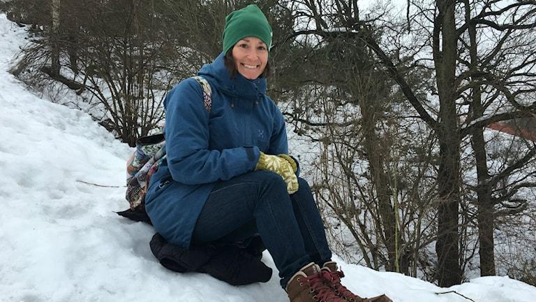 Äventyraren Johanna Davidsson. Foto: Lisa Friberg/Sveriges Radio