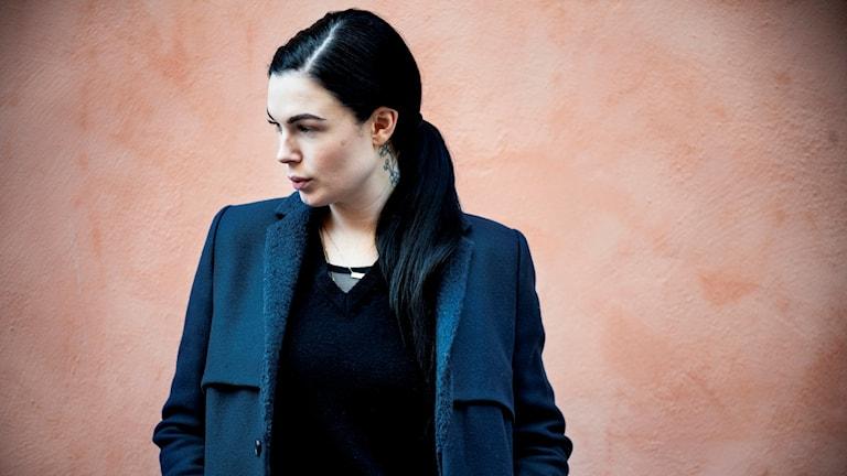 Sångerskan Vanessa Falk är aktuell med singeln 'Hurt' Foto: Malin Hoelstad /TT.