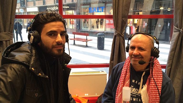 """Mustafa och Hasan Zatara nylanserar """"Hasans vänner"""" ikväll i Tensta.Foto: Sveriges Radio"""