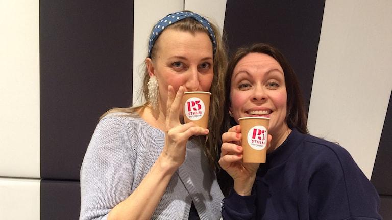 Elina Du Reitz och Lisa Lexfors. Foto: Athena Afshari/Sveriges Radio