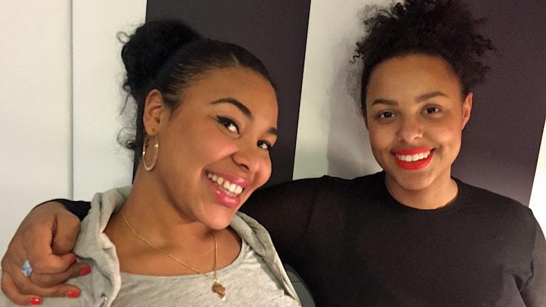 Amie Bramme Sey och Fanna Ndow Norrby Foto: Sveriges Radio