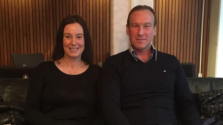 Bia Falk och Anders Ström. Foto: Mariana Benyamin Sir/Sveriges Radio