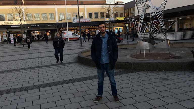 Salar på Rinkeby torg. Foto: Tom Hansen/Sveriges Radio.