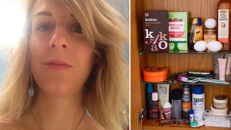 Sofia Portström använder bara naturligt schampo. Foto: Privat.