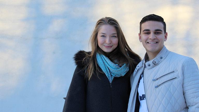 Martina Celic och Youcef Nasli.
