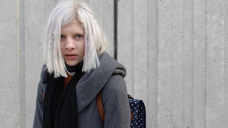 Aurora Aksnes utanför Radiohuset Foto: Jessica Widing / Sveriges radio