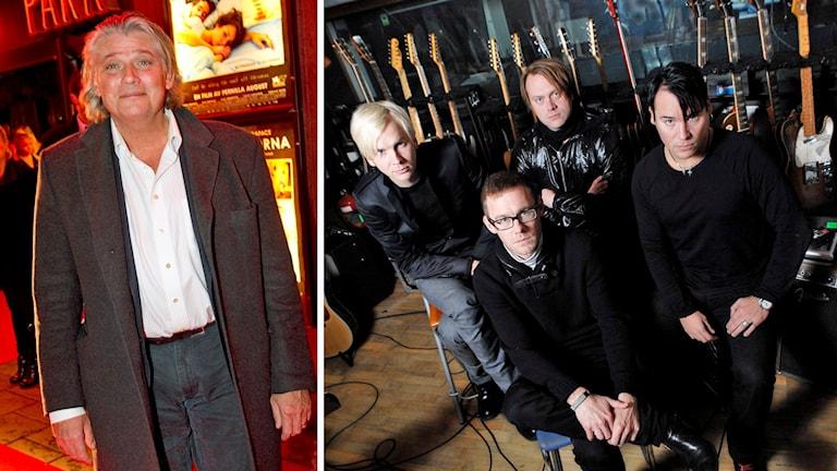 PR-konsult Paul Ronge och rockbandet Kent.