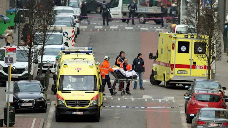 Skadade vid explosionen i tunnelbanan.