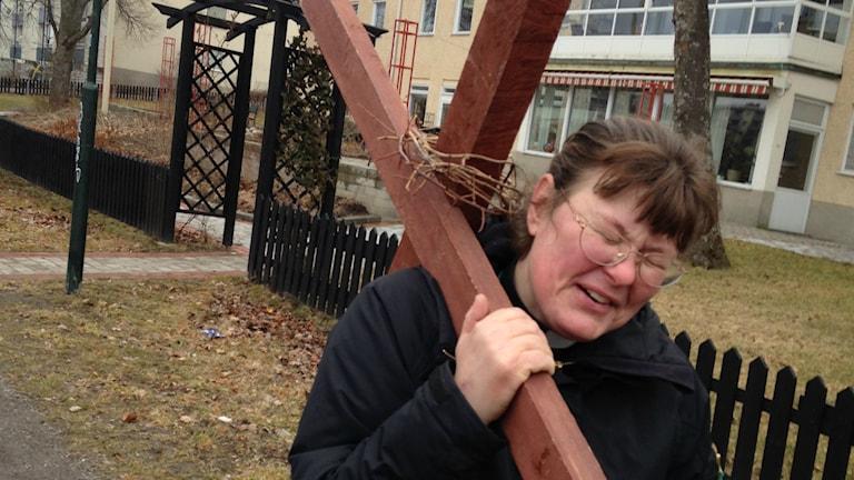 Fenja Svensson, präst i Skärholmens församling. Foto: Mariela Quintana Melin.