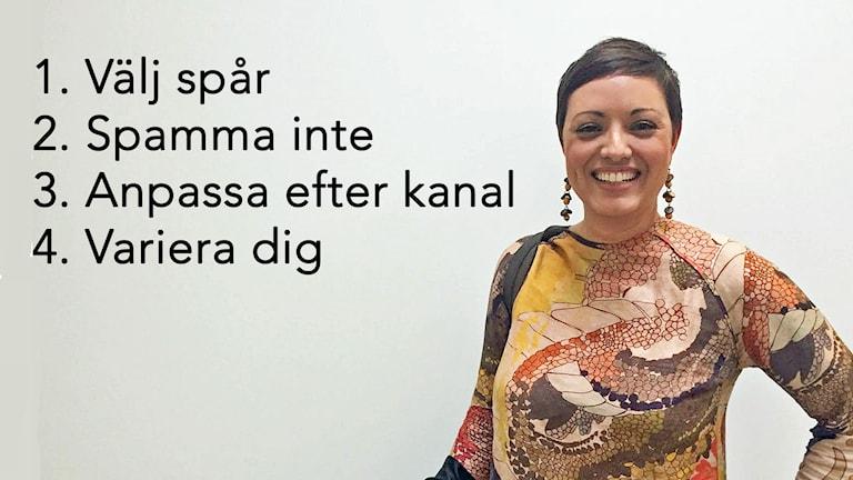 Författare Tina Sayed Nestius.Athena Afshari /Sveriges Radio.