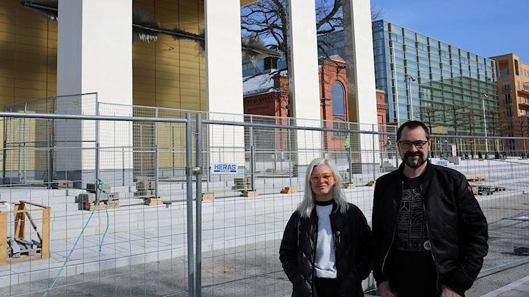 Kajsa Lindgren och Mattias Petersson från Kungliga Musikhögskolan. Foto:
