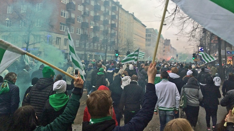 Bajens marsch på Götgatan