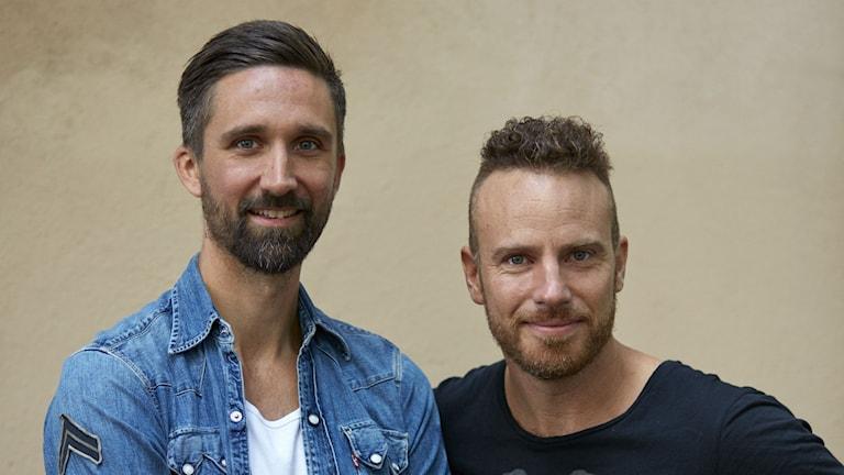 Författarna Maximillian Lundin och Daniel Öhman.
