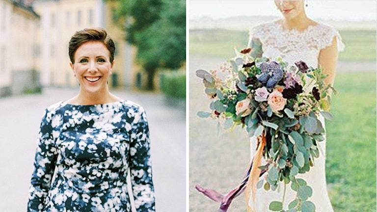 Lisa Larsson, bröllopspoddare och bröllopsfixare. Isabelle Hesselberg/2 Brides Photography.