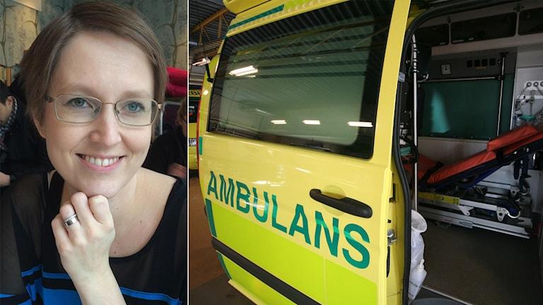 Anna Feltsen fick föda i ambulans