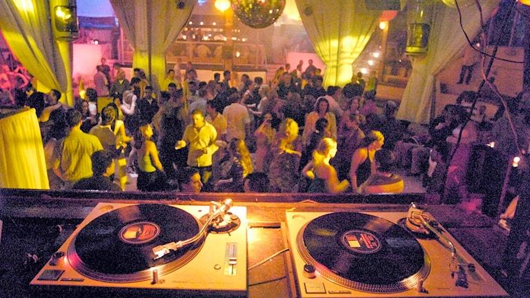DJ-bås.