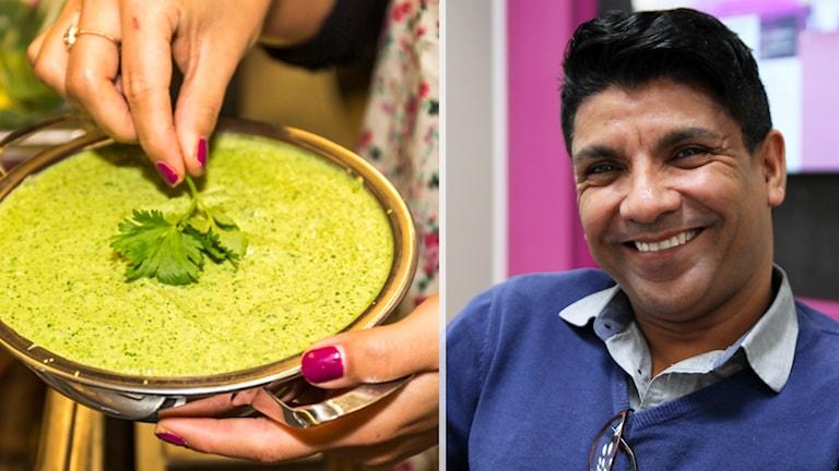 Sanjoo Malhotra håller matlagningskurser.