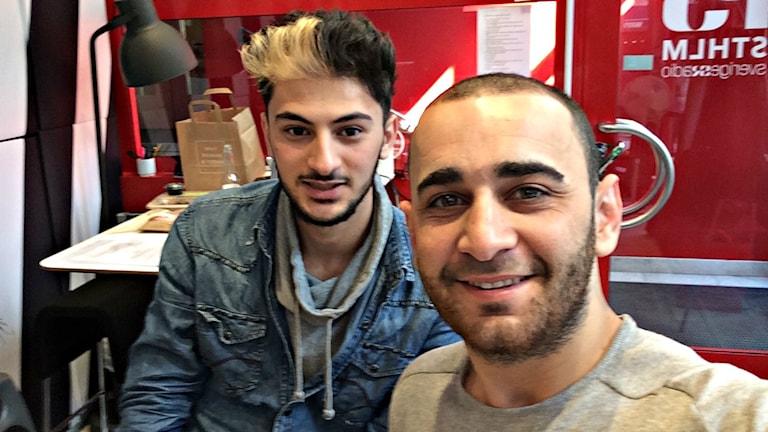 Hamza och Yanal som startade fikagruppen.