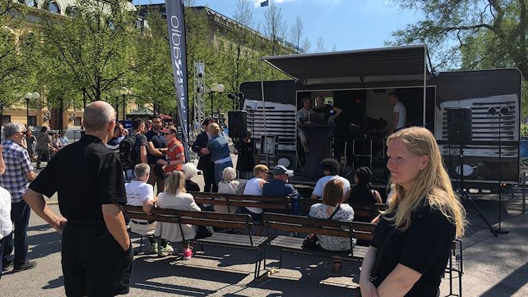 Sveriges Radio sänder från Kungsträdgården i samband med Eurovision Village