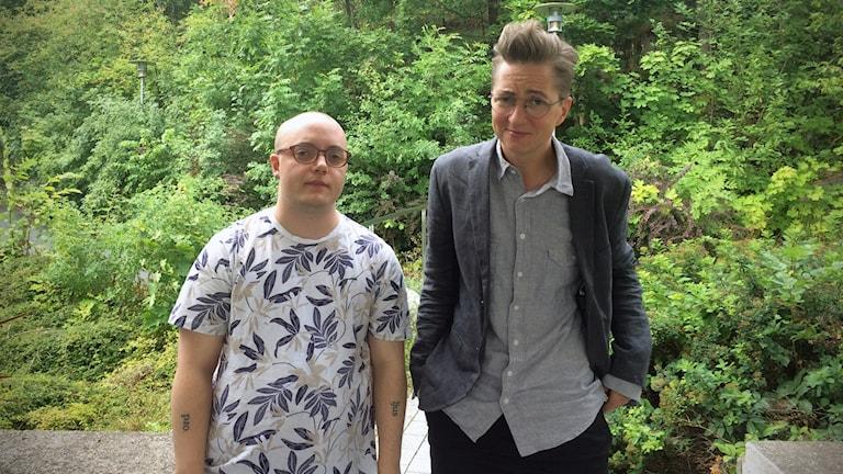 Sebastian Lönnlöv och Sam Holmqvist