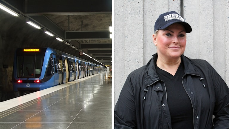 """Jeanette """"TunnelbaneNettan"""" Höglund."""