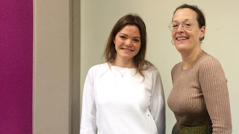 Emelie Lindblom Carlsson, redaktör på Veckorevyn och Cia Jansson, chefredaktör på ELLE