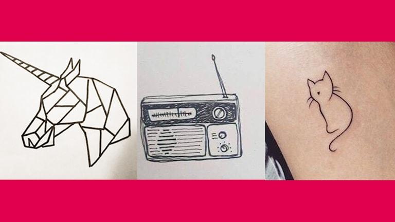 Hannas tatueringsskisser