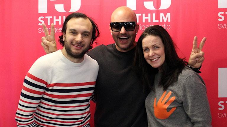 Farzad Nouri, Jonas Hallberg och Titti Schultz