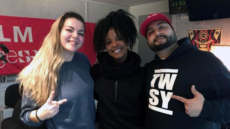 Lisa Zero, Imenella Mohamed och DJ Patuu