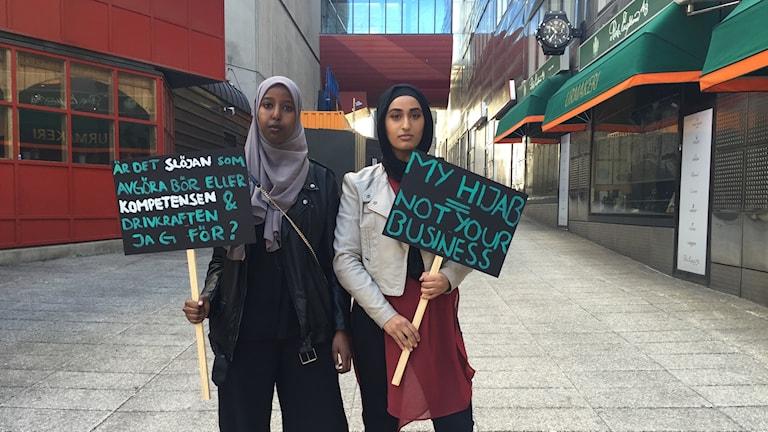 Ragia Abdullahi och Aiman Kayani.