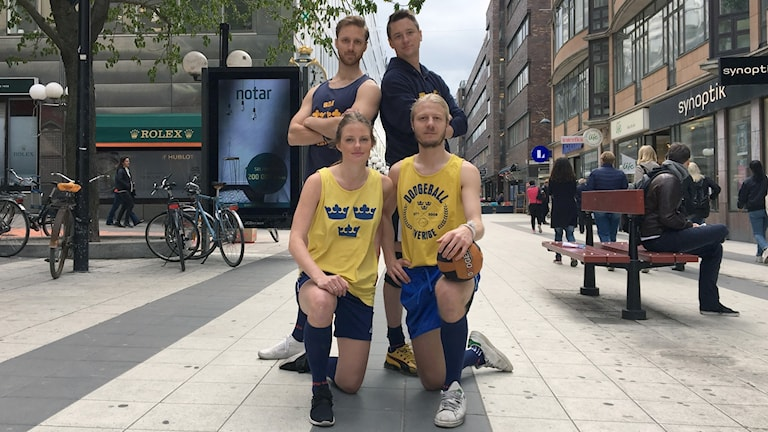 Eric Engström, Henric Carlsson, Linda Eriksson och Oscar Svernlöv