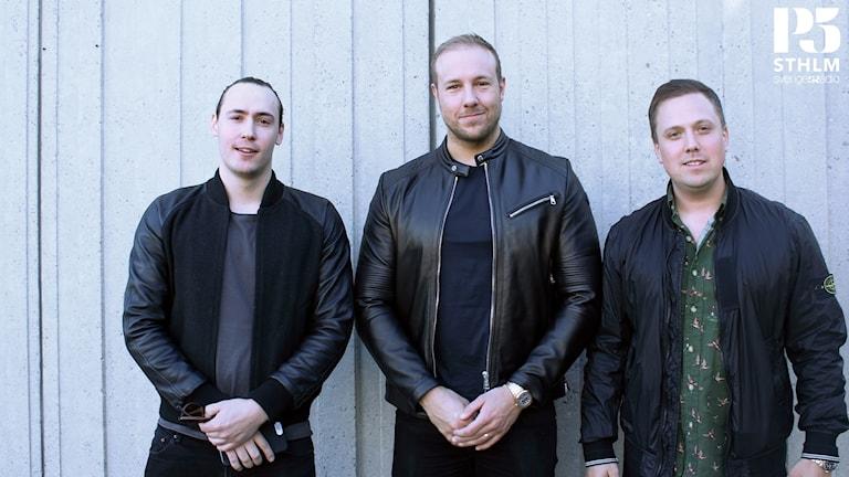 """Erik Askered, Emil """"HeatoN"""" Christensen och Peter Strömberg"""
