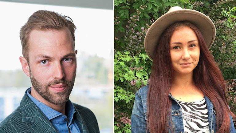 Manne Forssberg och Nathalie Linder. Foto: Mathias Ahlm /SR, Eva Ericsson /SR
