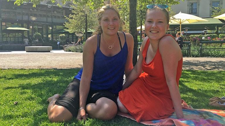 Vännerna Sofie och Louise