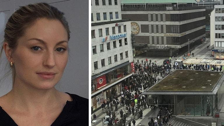 Drottninggatan och Lisa Friberg