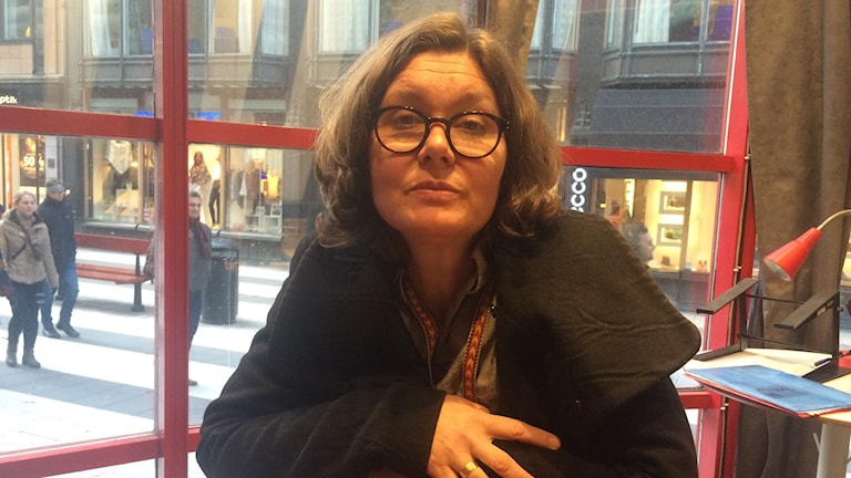 Anne Skaarud, specilapedagog. Jobbar på Forum för funktionshinders bibliotek i Rosenlund