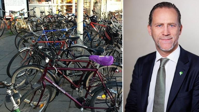 Cykelparkering och Daniel Helldén