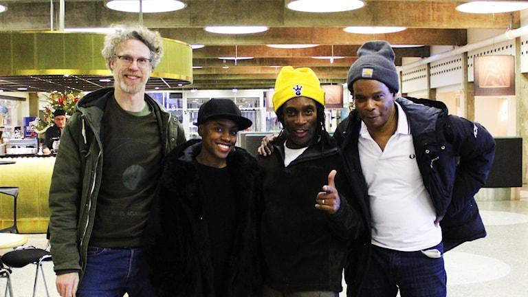 Blacknuss. Martin Jonsson, Mary N'diaye, Desmond Foster och Chuck Anthony.
