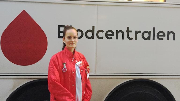 Anna-Maria Ramirez, sjuksköterska på Blodbussen.