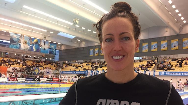 Therese Alshammar på sin sista tävlingsdag