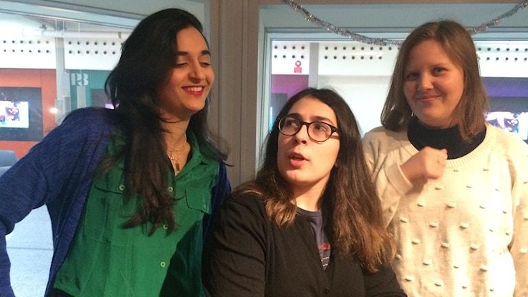 Fansen Farida al -Abani, Kurt Kviberg, och Kerstin Janemar.